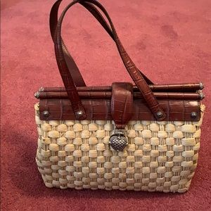 Brighton ( vintage)Rattan / leather